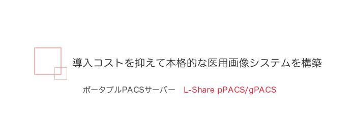 ポータブルPACSサーバー L-Share pPACS